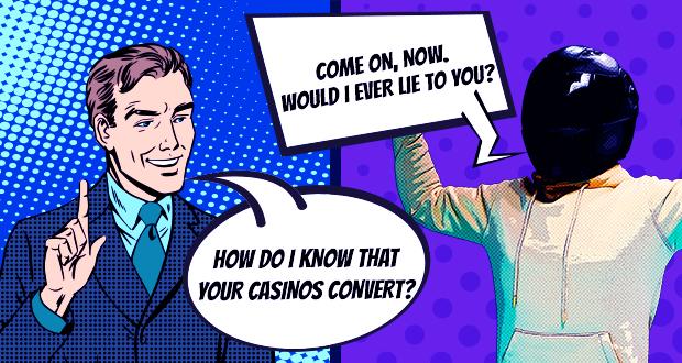 Do our casino brands convert well?
